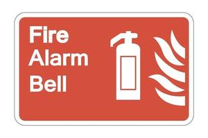 Señal de símbolo de seguridad de campana de alarma contra incendios sobre fondo blanco, ilustración vectorial vector
