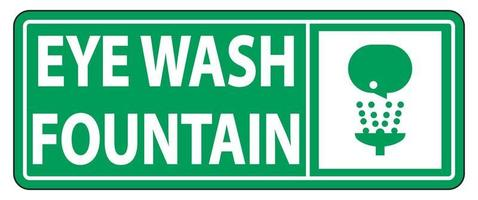 Eye Wash Fountain Sign Symbol Sign Isolate On White Background,Vector Illustration EPS.10 vector