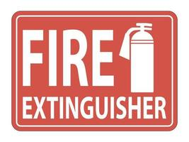 Fire Extinguisher Sign on white background,vector  illustration vector