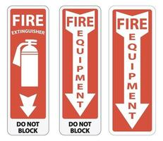 Symbol Fire Equipment Sign on white background vector