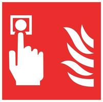 Fire Alarm Call Point Symbol Sign Isolate On White Background,Vector Illustration EPS.10 vector