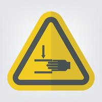 Hand Crush Force From Above Symbol Sign vector