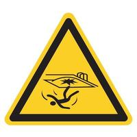 Fall Hazard Symbol Sign Isolate on White Background,Vector Illustration vector