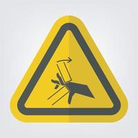 Hand Crush Pinch Point Symbol Sign vector