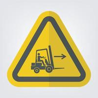 Forklift Point Right Symbol Sign Isolate On White Background vector