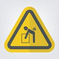 Lifting Hazard Symbol Sign Isolate On White Background vector