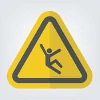 Signo de símbolo de peligro de subida aislado sobre fondo blanco. vector