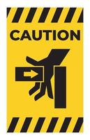 Caution Hand Crush Force From Left Symbol Sign Isolate on White Background vector