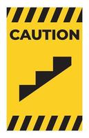 Beware Slope Step Symbol Isolate On White Background vector
