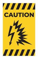 Caution Sign Arc Flash Symbol on white background vector
