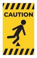 Trip Hazard Symbol Sign vector