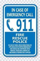 llamar al 911 vector