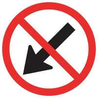 Prohibit Keep Left by The Arrow Red Circle Traffic Road Sign vector