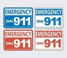conjunto de señales de llamada de emergencia 911 vector
