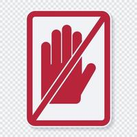 symbol do not touch sign vector