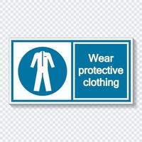 Symbol Wear protective clothing Sign vector