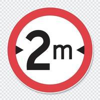 Symbol width limit 2 m. sign vector