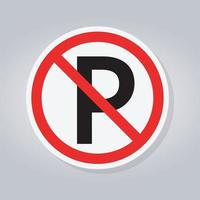 No parking or stopping Sign vector