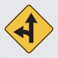 Left turn split sign vector