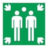 símbolo de punto de reunión aislar sobre fondo blanco vector