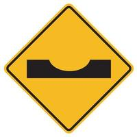 Warning traffic signs Dip on white background vector