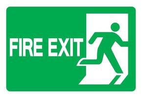 Fire Exit Emergency Green Sign vector