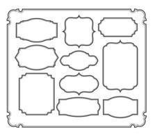 Set of frames border design vector