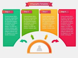 Infographic template with step process vector