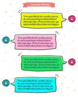 Bubble chat for messenger application in Comic style vector