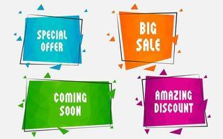 Vector Business promotion elements