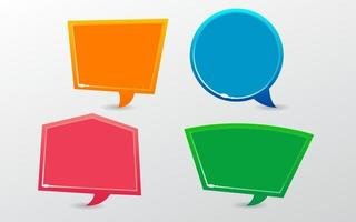 Different Shapes Speech Bubble Collection vector