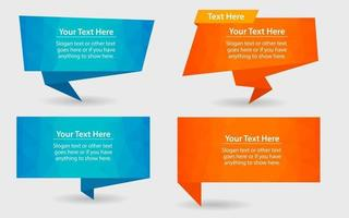 Low Poly Speech Bubble Pack vector