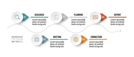 Timeline chart business infographic template. vector