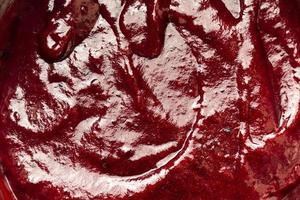 delicioso glaseado rojo con textura foto