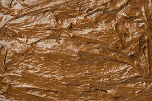 Close up of chocolate icing photo