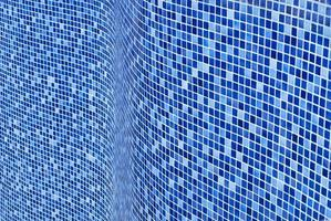 Blue mosaic layer background. Blue tiles layer. photo