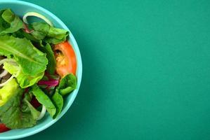 Vegetable salad. Vegan, vegetarian healthy, diet nutrient meal. photo