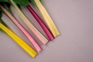 acelgas. verdura comestible de hoja arco iris saludable. foto