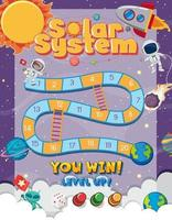 Board Game for kids in outer space style template vector