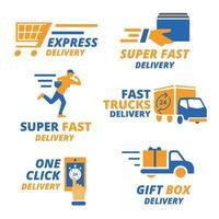 colección de logotipos de entrega vector