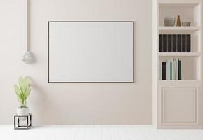 sala de estar grande y moderna, representación 3d foto