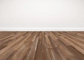 Hardwood floor and white wall photo