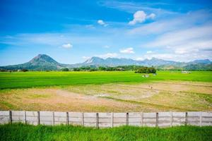 Vast valley of Zambales in the Philippines with its mountains in the bakground photo