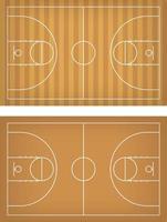 Ilustración de vector de cancha de baloncesto