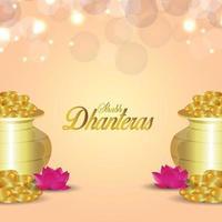 Ilustración de vector de shubh dhanteras