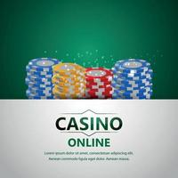 Casino online gambling game with luxury background vector