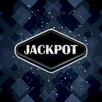 Casino online jackpot gambling game with creative background vector