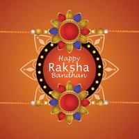 feliz celebración raksha bandhan tarjeta de felicitación vector