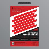 Modern Red Stripes Business Brochure vector