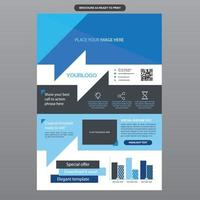 Vibrant Modern Blue Business Brochure Template vector
